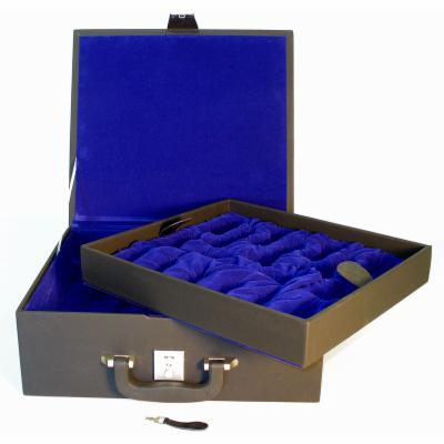  Luxury Black Vinyl Chess Box