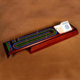 Royal 3-Track Cribbage - Walnut Stained Box