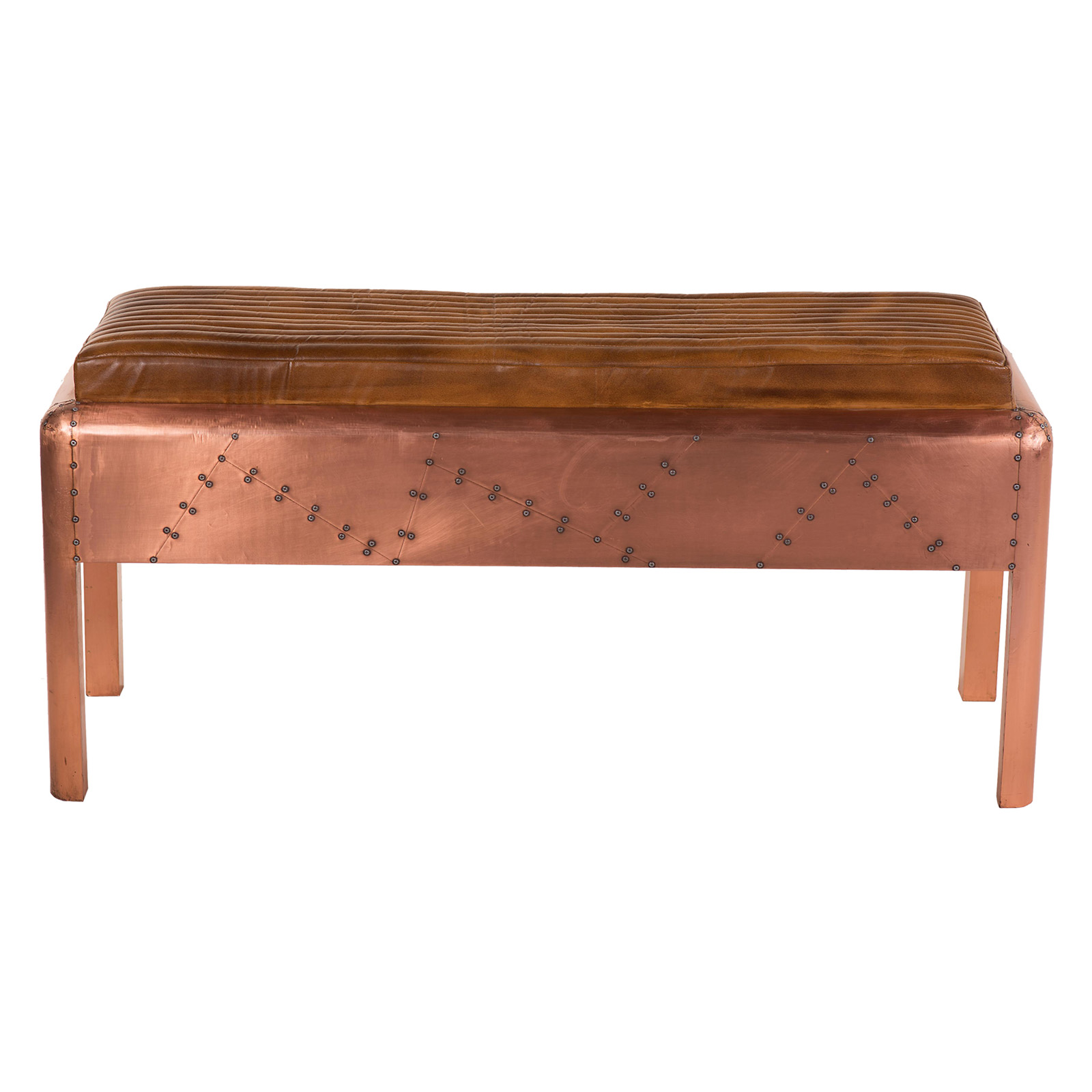 Yosemite home decor upholstered bench ottoman indoor benches at hayneedle Decorative benches