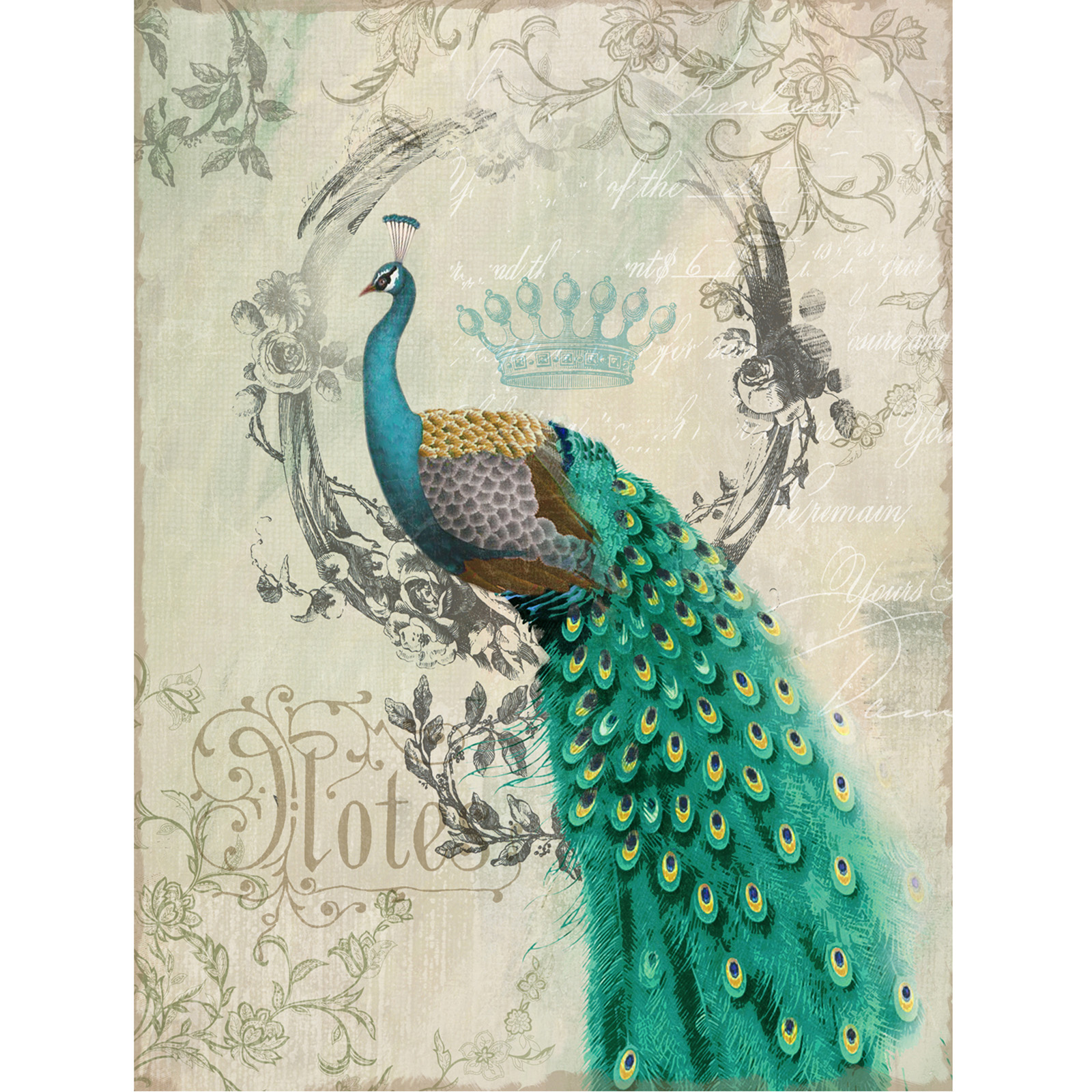 Yosemite Home Decor Peacock Poise Ii Wall Art 24w X 35h
