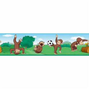 Curious George Peel &amp; Stick Border