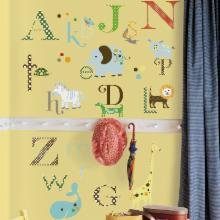  Animal Alphabet Peel and Stick Wall Decals