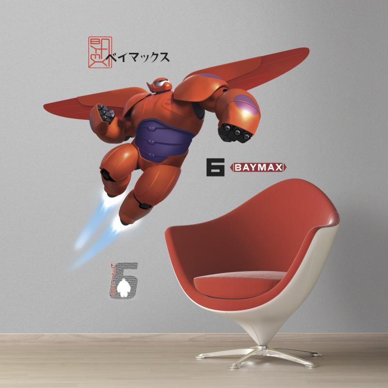 Disney Big Hero 6 Baymax Peel and Stick Giant Wall Decals YWI1280-1
