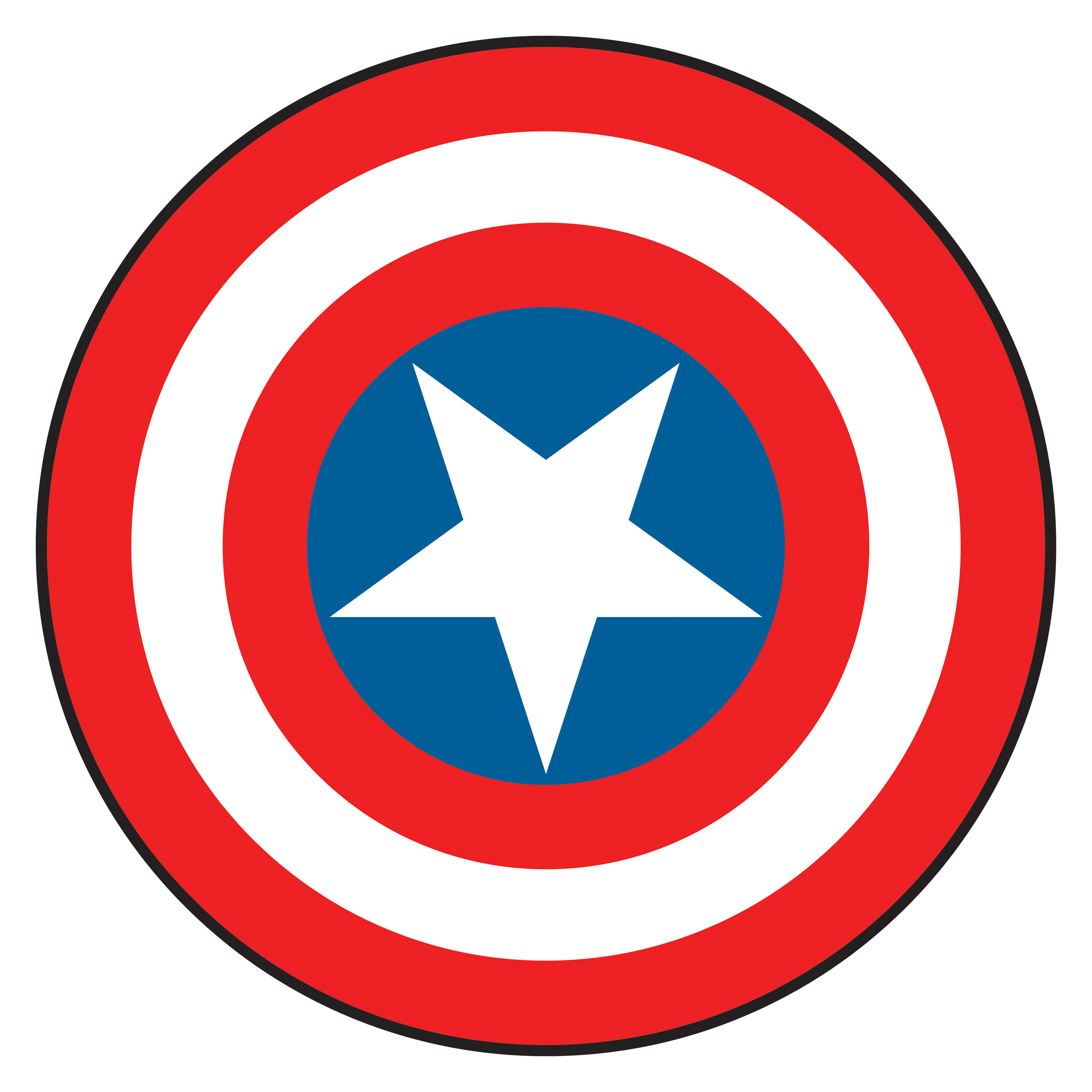 This is an image of Priceless Captain America Shield Printable