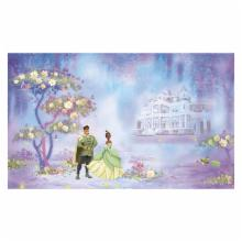  Princess and Frog Chair Rail Prepasted Mural 6 x 10.5 ft.