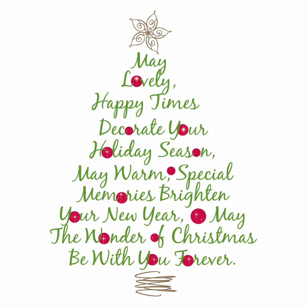 Christmas Tree Quote Peel and Stick Giant Wall Decals - Wall ...