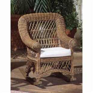 Child&#39;s Wicker Rocking Chair with Cushion