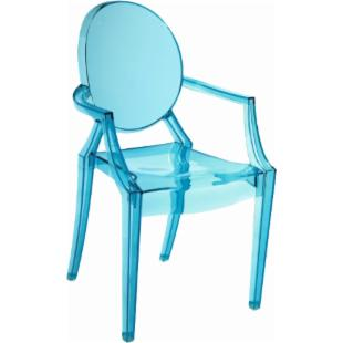 Zuo Modern Kids Baby Anime Armchair - Transparent Blue - Set of 2