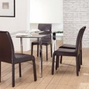  Vista 5 pc. Glass Dining Table Set