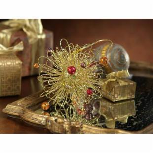Zodax Glitter Wire Ornament - Set of 12