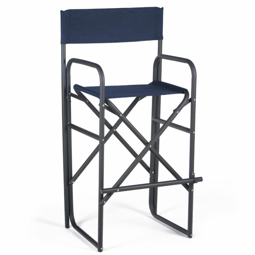 30 5 Inch Black Frame Bar Height Directors Chair Ebay