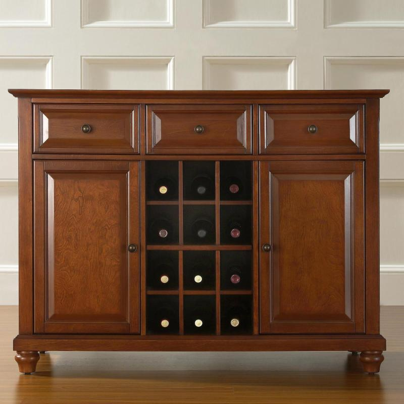 Crosley Cambridge Buffet Server with Wine Storage