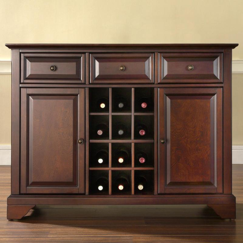 Crosley LaFayette Buffet Server with Wine Storage