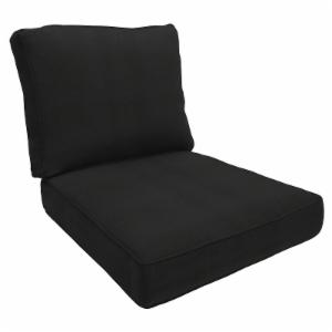 Black chaise lounge cushions outdoor cushions on for Chaise cushions on sale