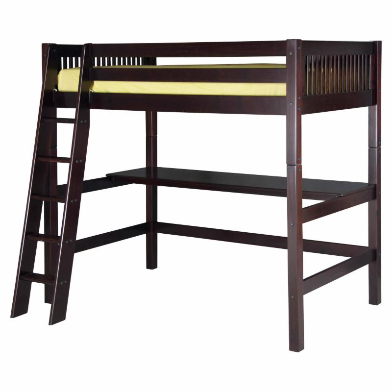 Camaflexi Mission Headboard High Loft Bed with Desk