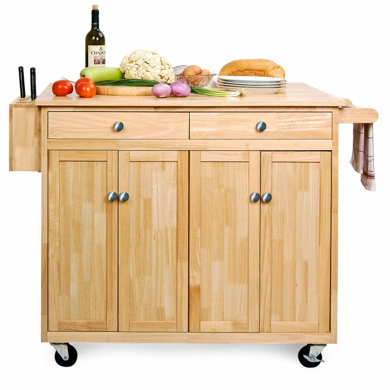 Belham Living Vinton Portable Kitchen Island with Optional Stools