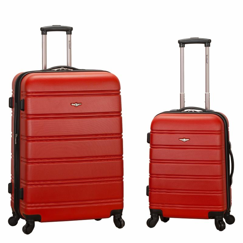 Rockland Luggage F225 2 Piece Expandable Spinner Set Red