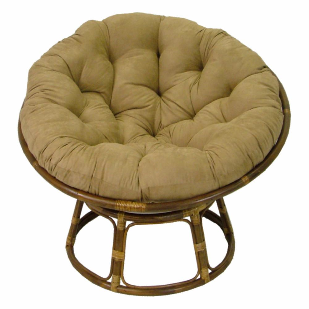 International caravan papasan chair with solid micro suede for Papasan seat