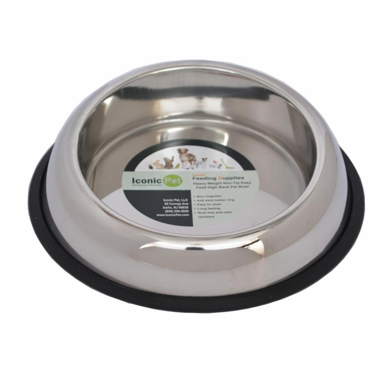 Iconic Pet Heavy Weight Tilted Non-Skid Easy Feed High Back Pet Bowl ICOP104-2