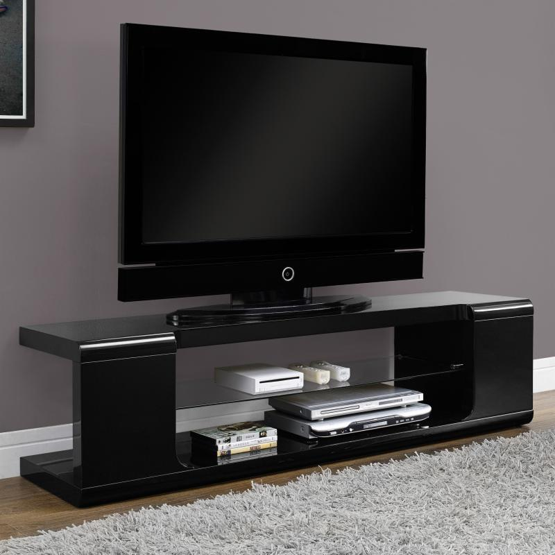 Monarch 60 in. TV Console with Tempered Glass MON901-1