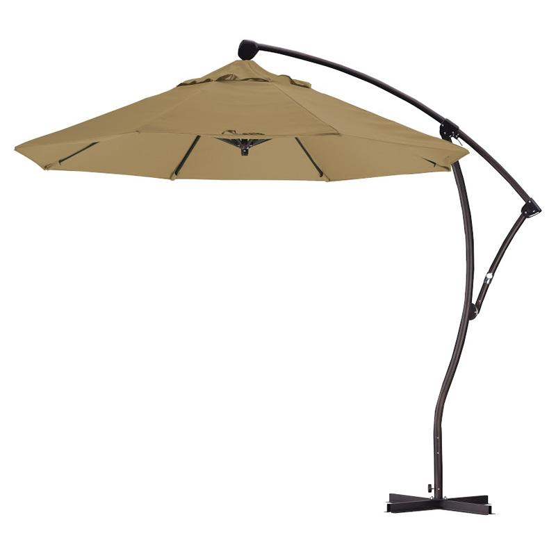 California Umbrella 9 ft. Sunbrella Rotating Offset Umbrella Sunbrella Camel MPC017-18