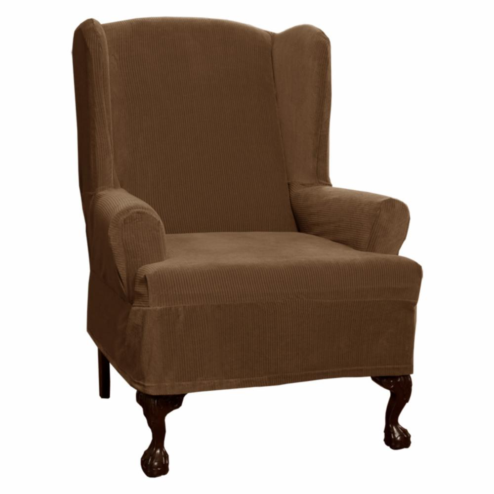 Maytex collin stretch wing chair slipcover ebay Slipcovers for chairs