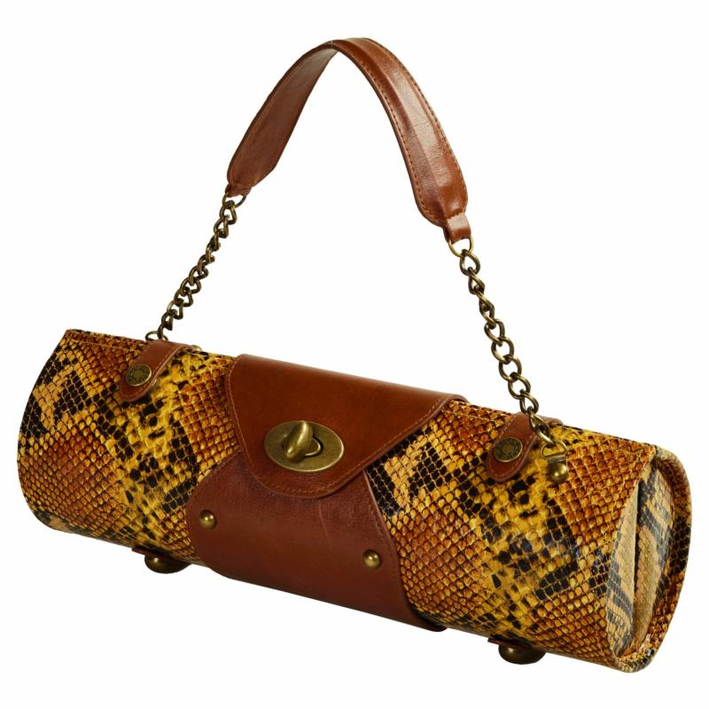 Picnic at Ascot Leather Wine Snake Carrier