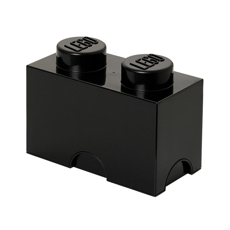 LEGO Storage Brick 2 Toy Box Black