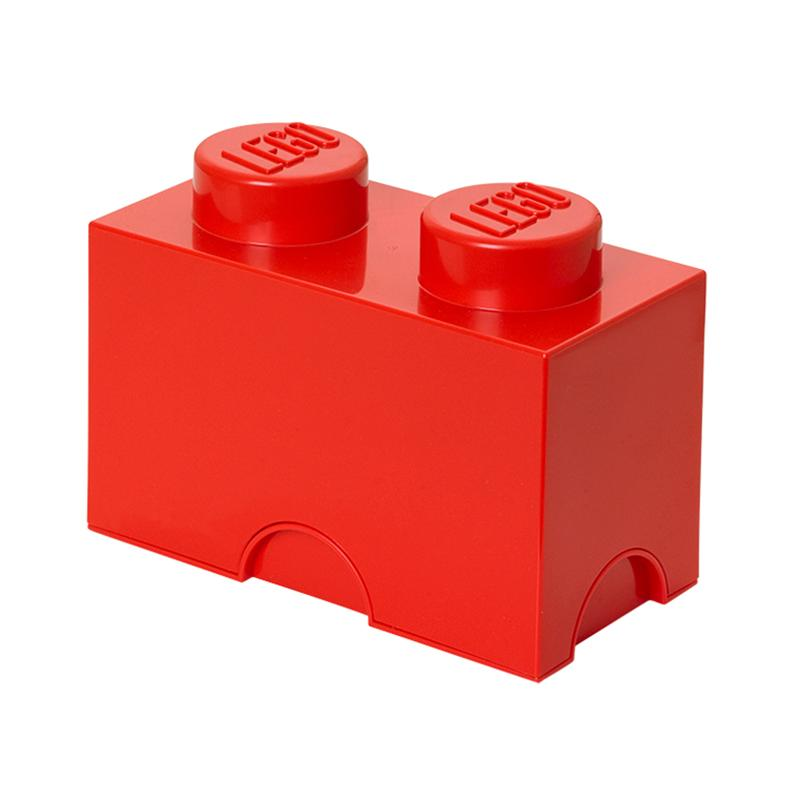 LEGO Storage Brick 2 Toy Box Bright Red