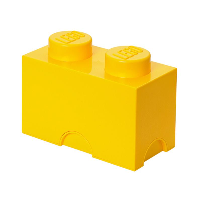 LEGO Storage Brick 2 Toy Box Bright Yellow