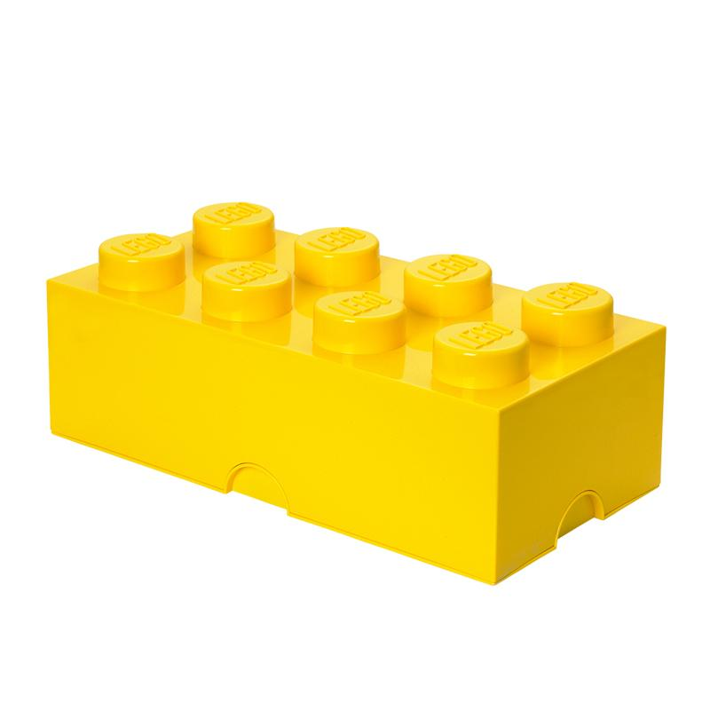 LEGO Storage Brick 8 Toy Box Bright Yellow