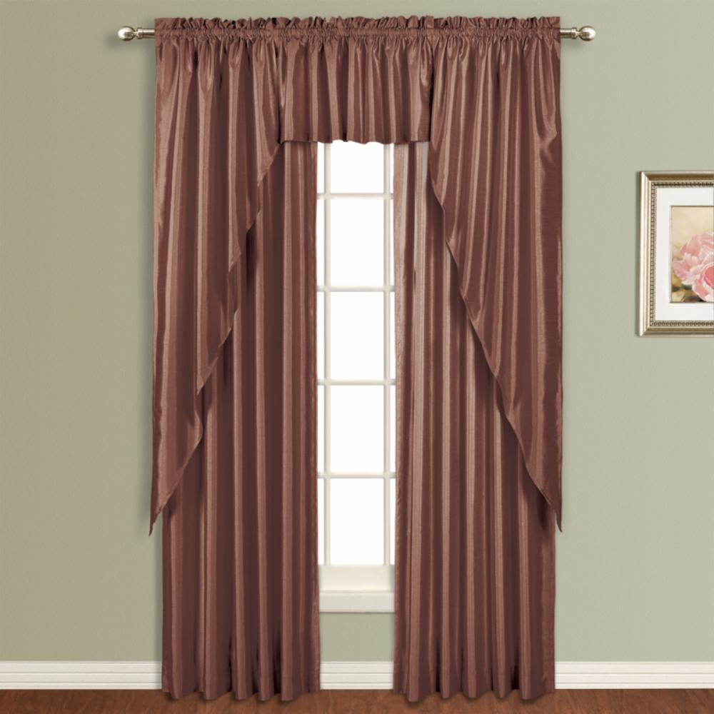 United Curtain Anna Lined Faux Silk Curtain Panel Ebay