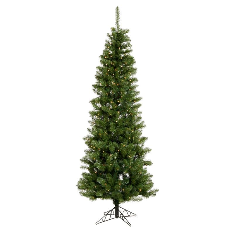 Salem Pencil Dura-Lit Christmas Tree with Metal Stand Clear