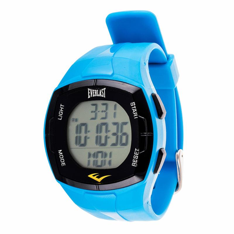 Everlast HR2 Heart Rate Monitor Watch with Chest Strap Transmitter Blue XTRE005-1