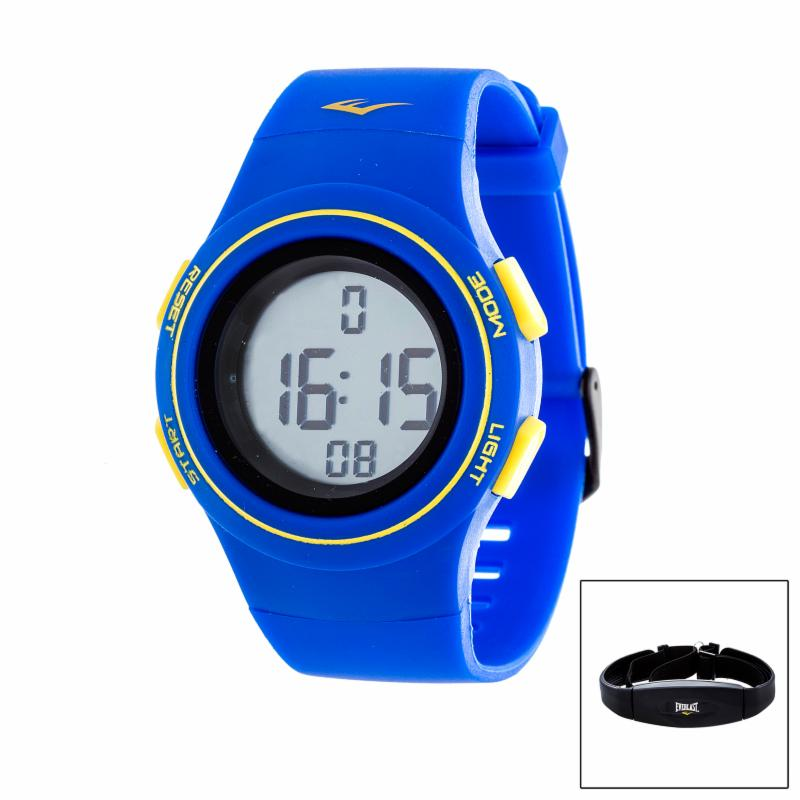 Everlast HR6 Heart Rate Monitor Watch with Transmitter Belt Navy Blue XTRE009-3