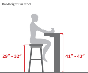 Bar Height Bar Stool Diagram