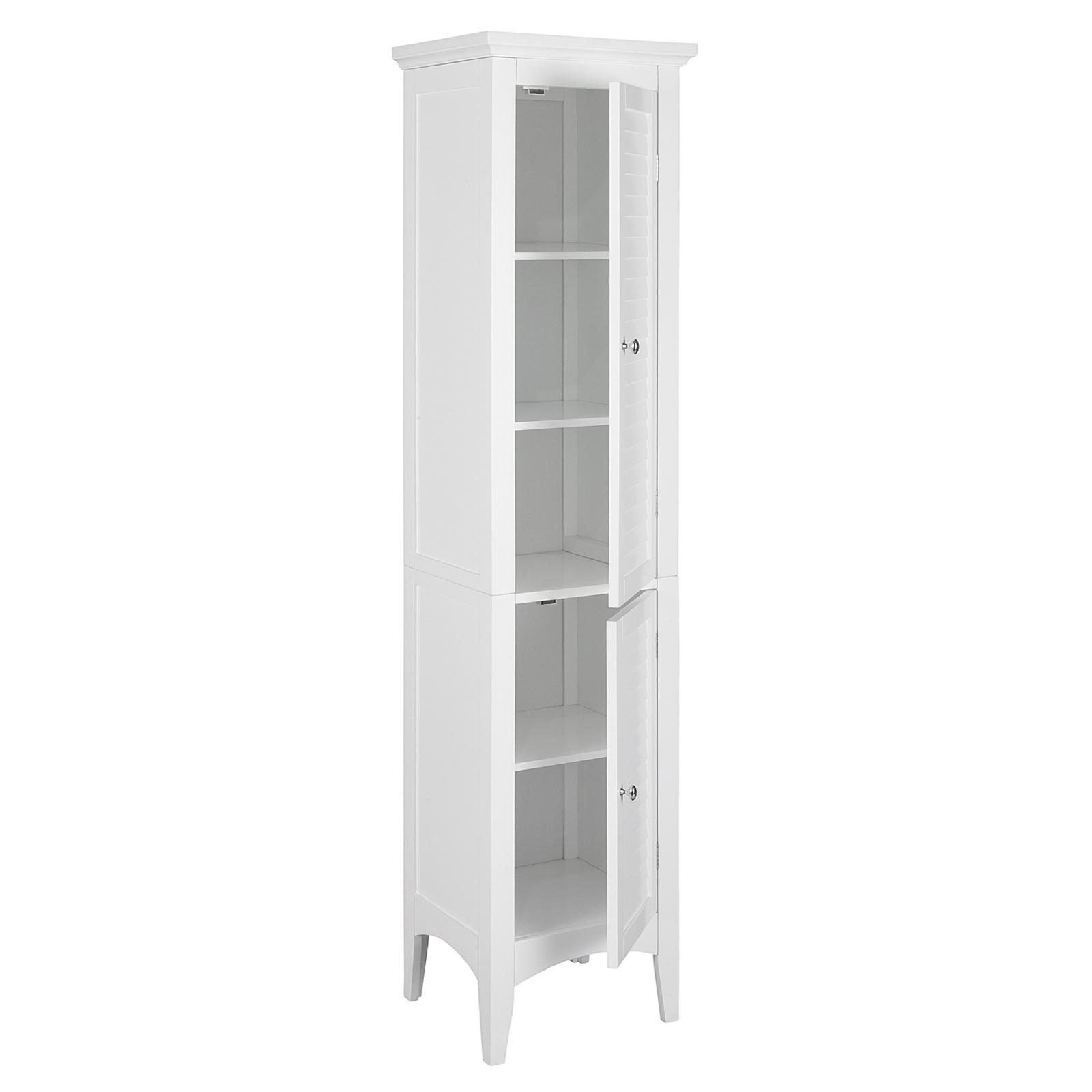 Elegant Home Fashions Slone Linen Tower With 2 Shutter Doors White 600180632000 Ebay
