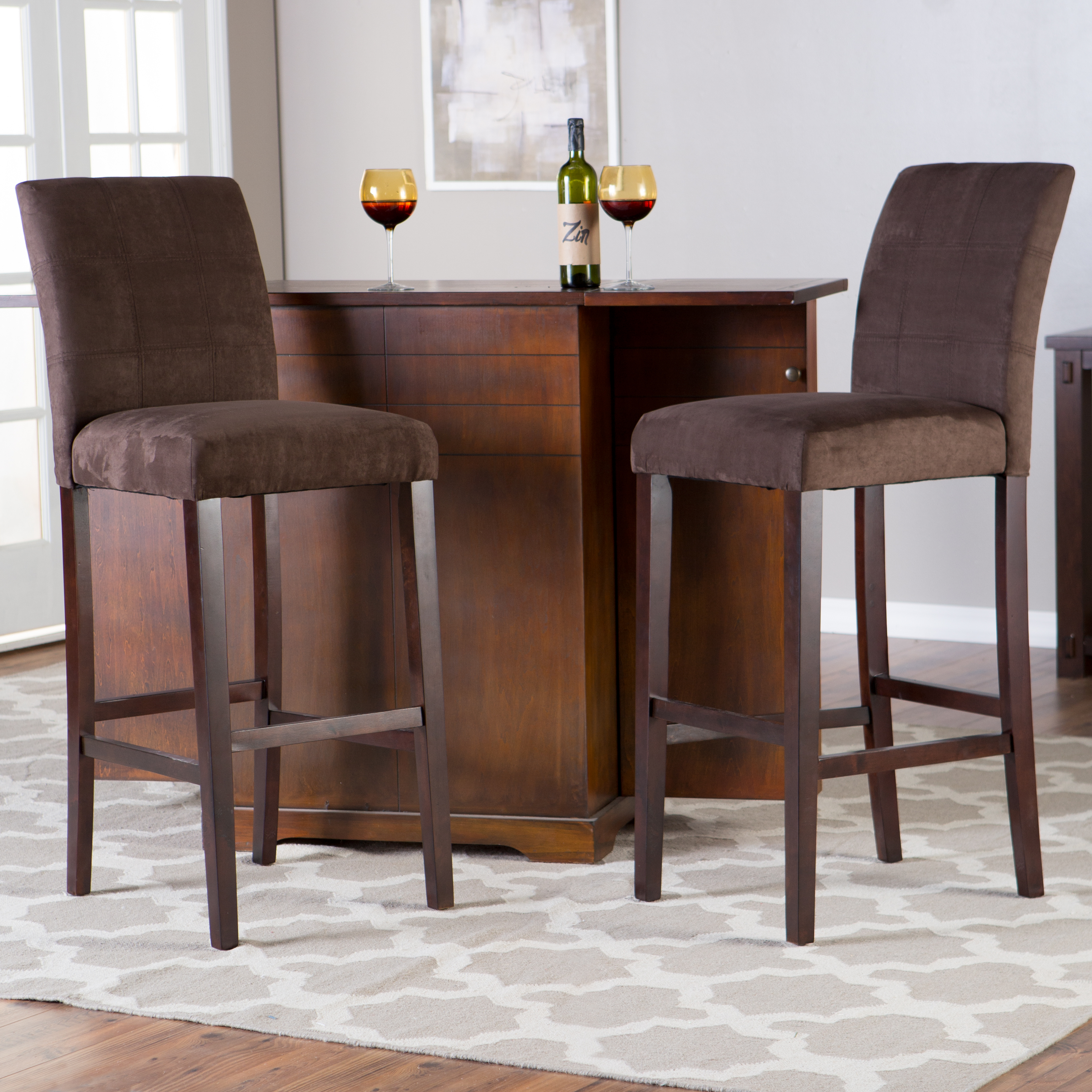Palazzo Inch Extra Tall Bar Stool Set of 2 Bar Stools at Hayneedle