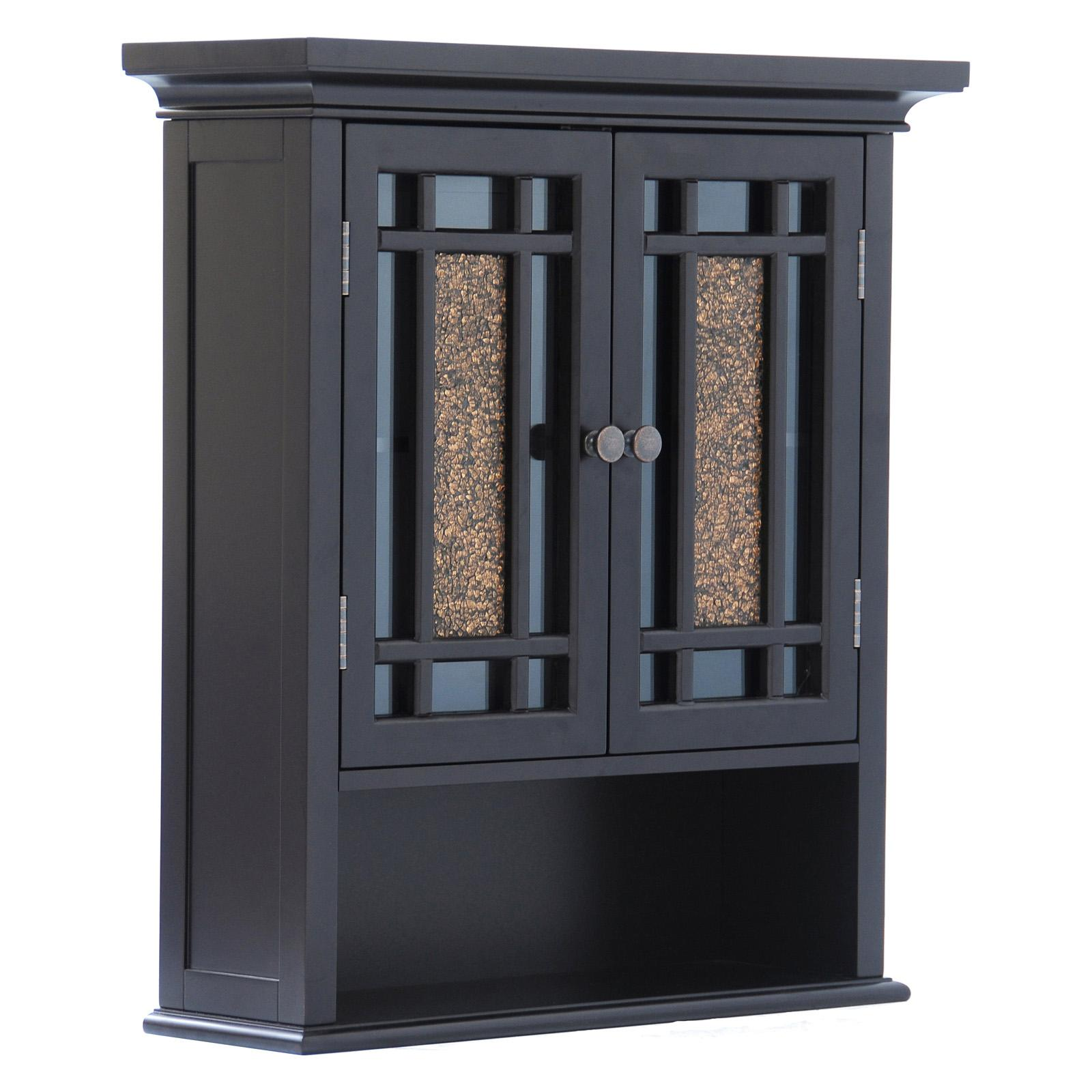 Elegant Home Windsor Espresso Bathroom Wall Cabinet With 2 Doors And 1 Shelf Ebay