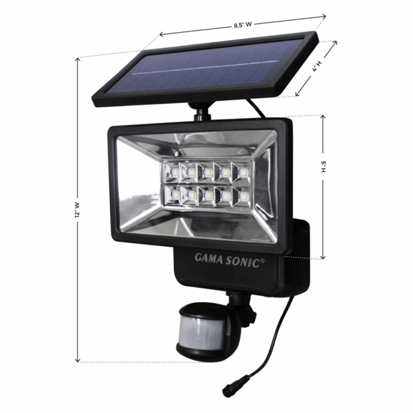 Outdoor Security Lights With Alarm: Gama Sonic Outdoor Solar Security Light - Motion Sensor