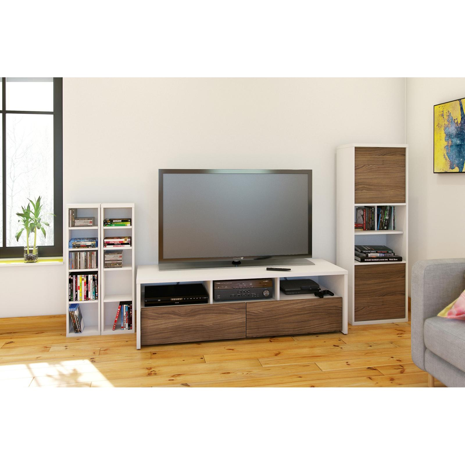 Nexera Liber T Modular Design Your Own Storage And Entertainment System 60 In