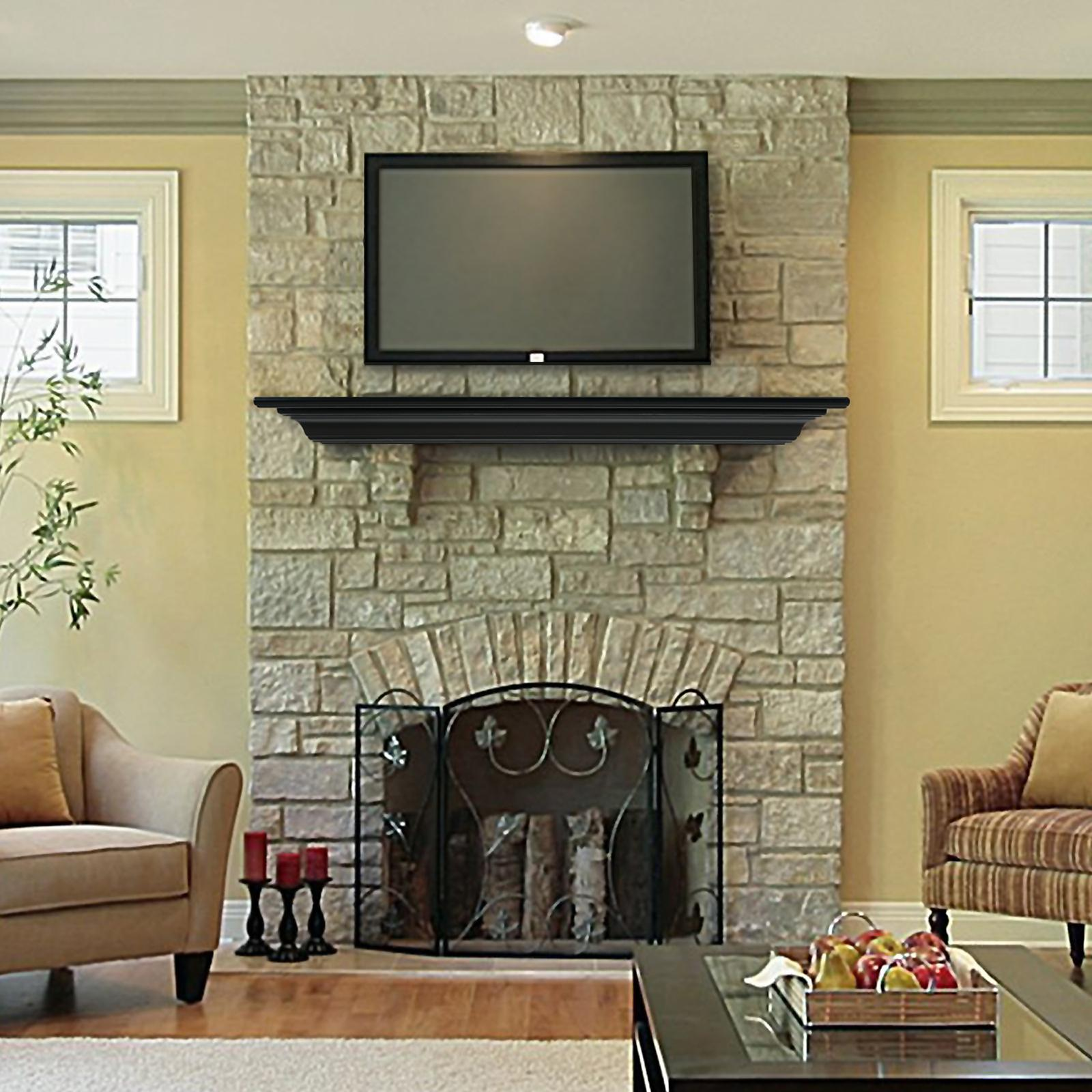 white shelves fireplace standard manassas perspective shelf traditional sizes mantel
