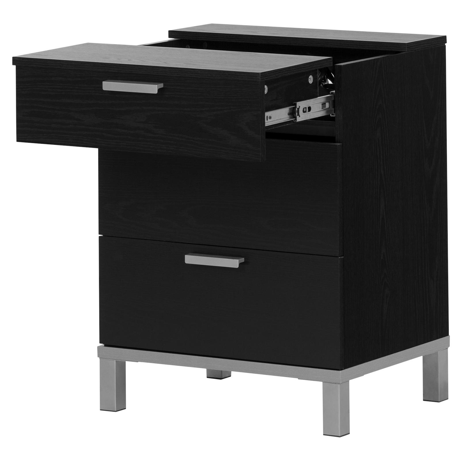 South Shore Flexible Nightstand With Charging Station And