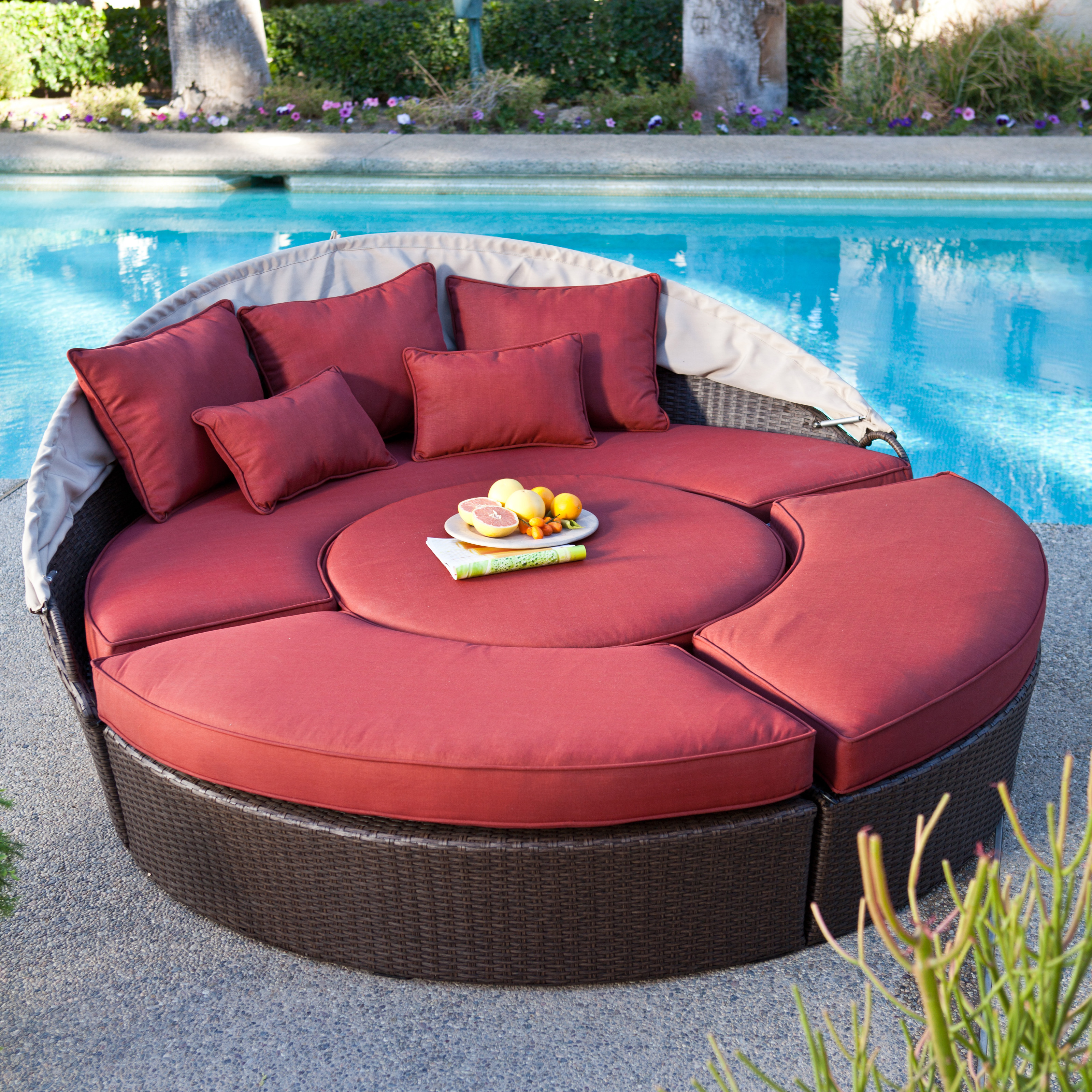 belham living rendezvous allweather wicker sectional daybed hayneedle