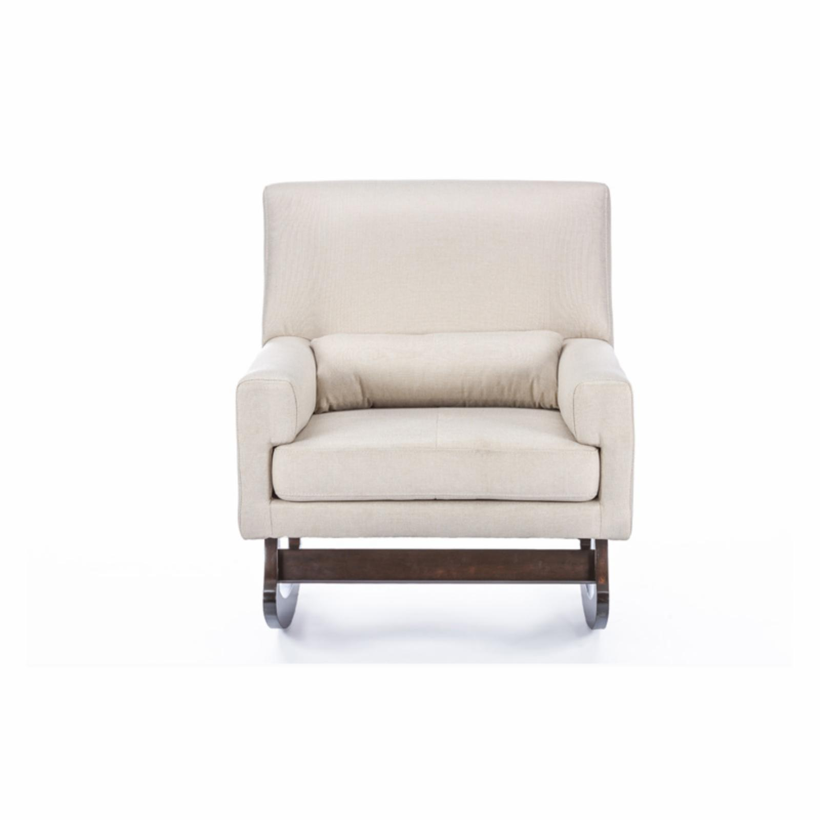 Baxton Studio Imperium Rocking Chair With Pillow Ebay