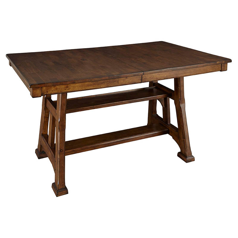 A America Ozark Counter Height Trestle Dining Table