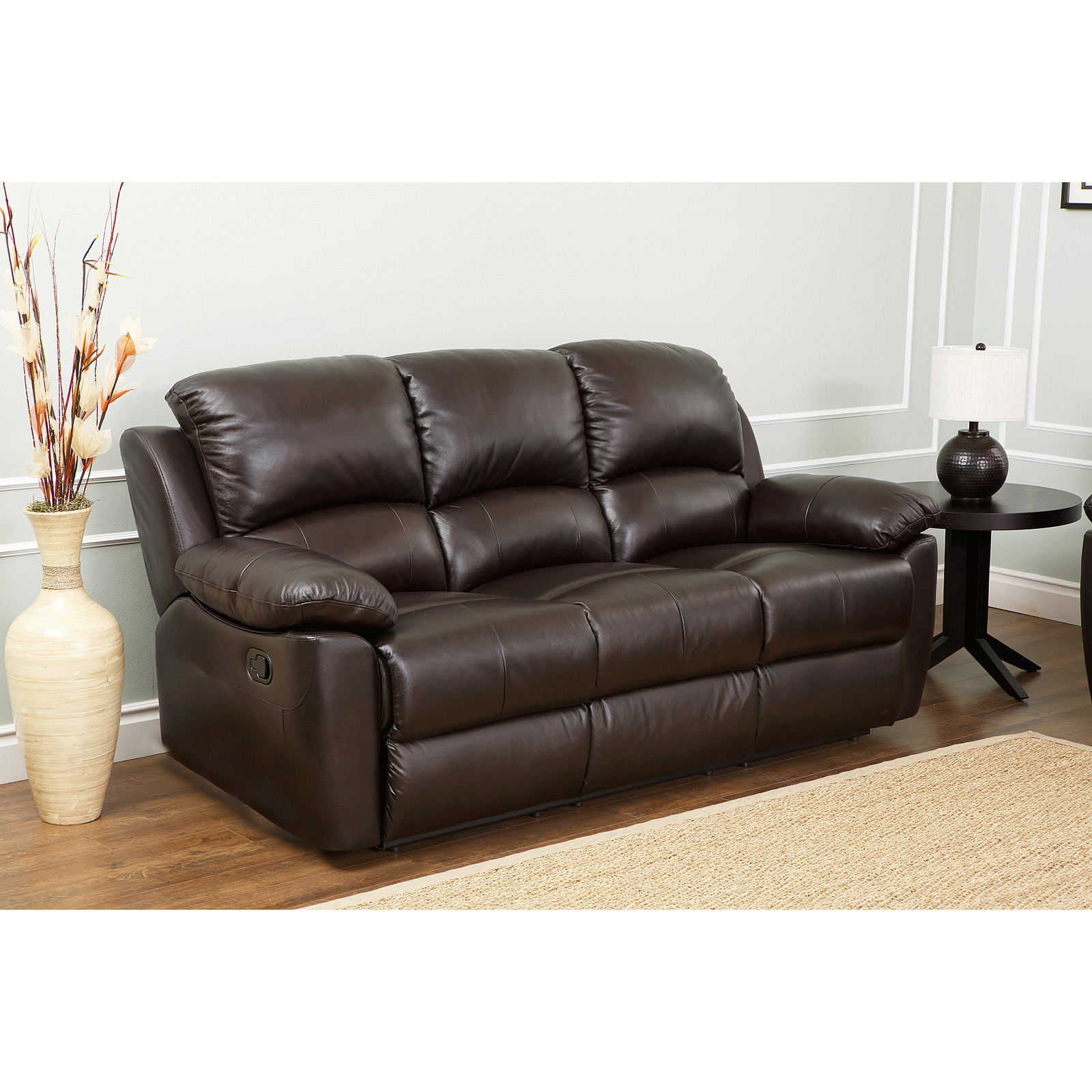 sc 1 st  Hayneedle & Abbyson Western Top Grain Leather Reclining Sofa - Brown | Hayneedle islam-shia.org