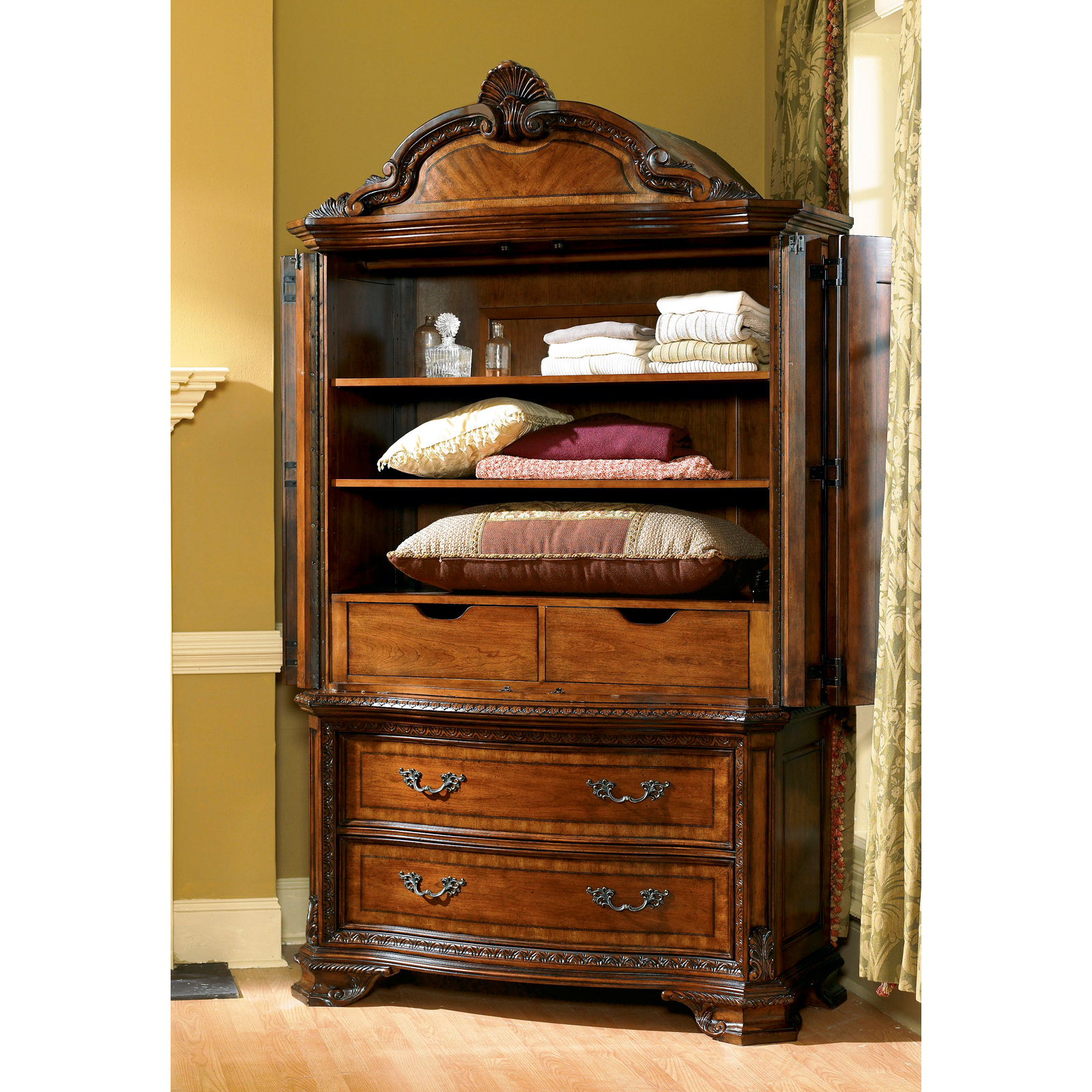 A.R.T. Furniture Old World Bedroom Armoire - Pomegranate | Hayneedle