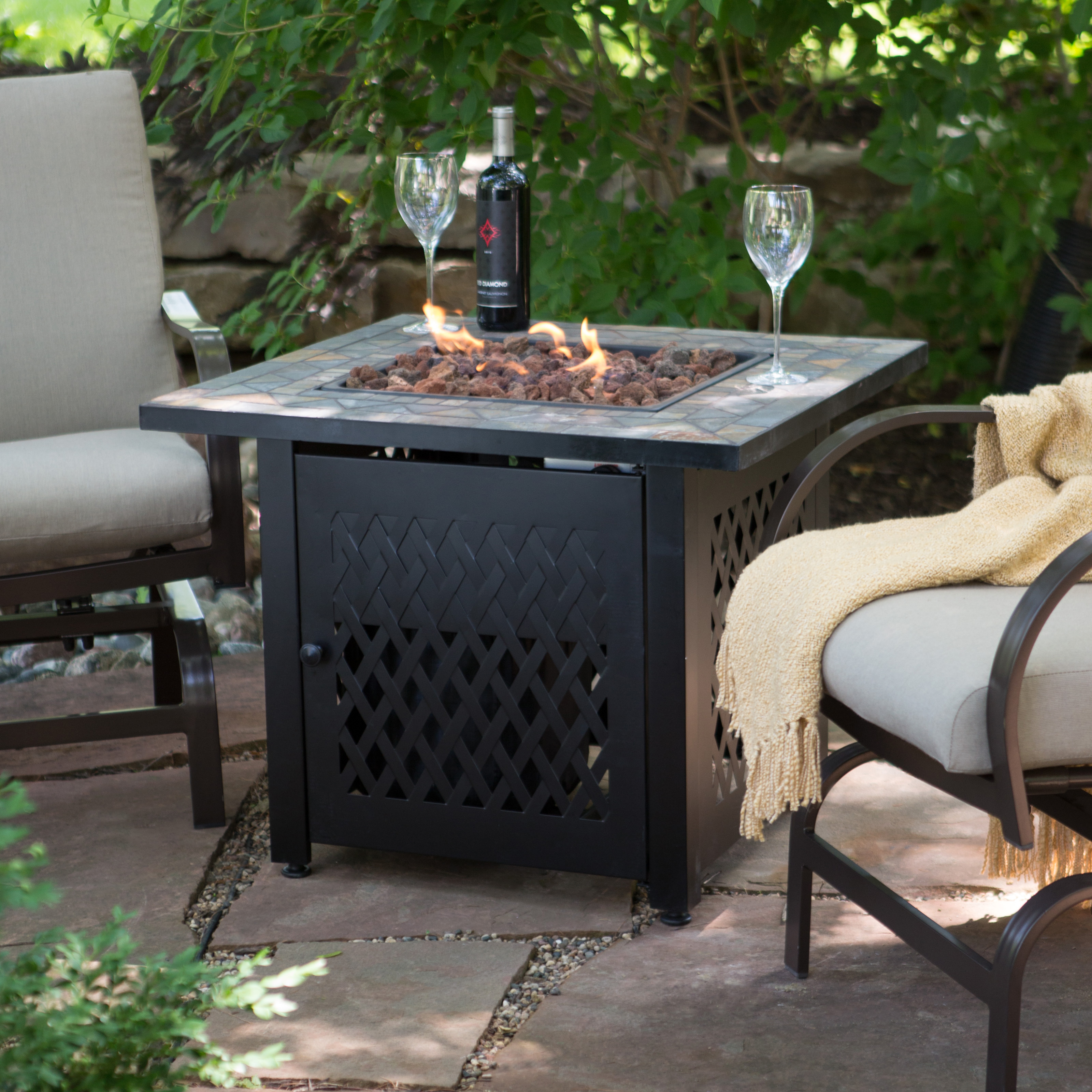 Image result for fire pit and propane heater