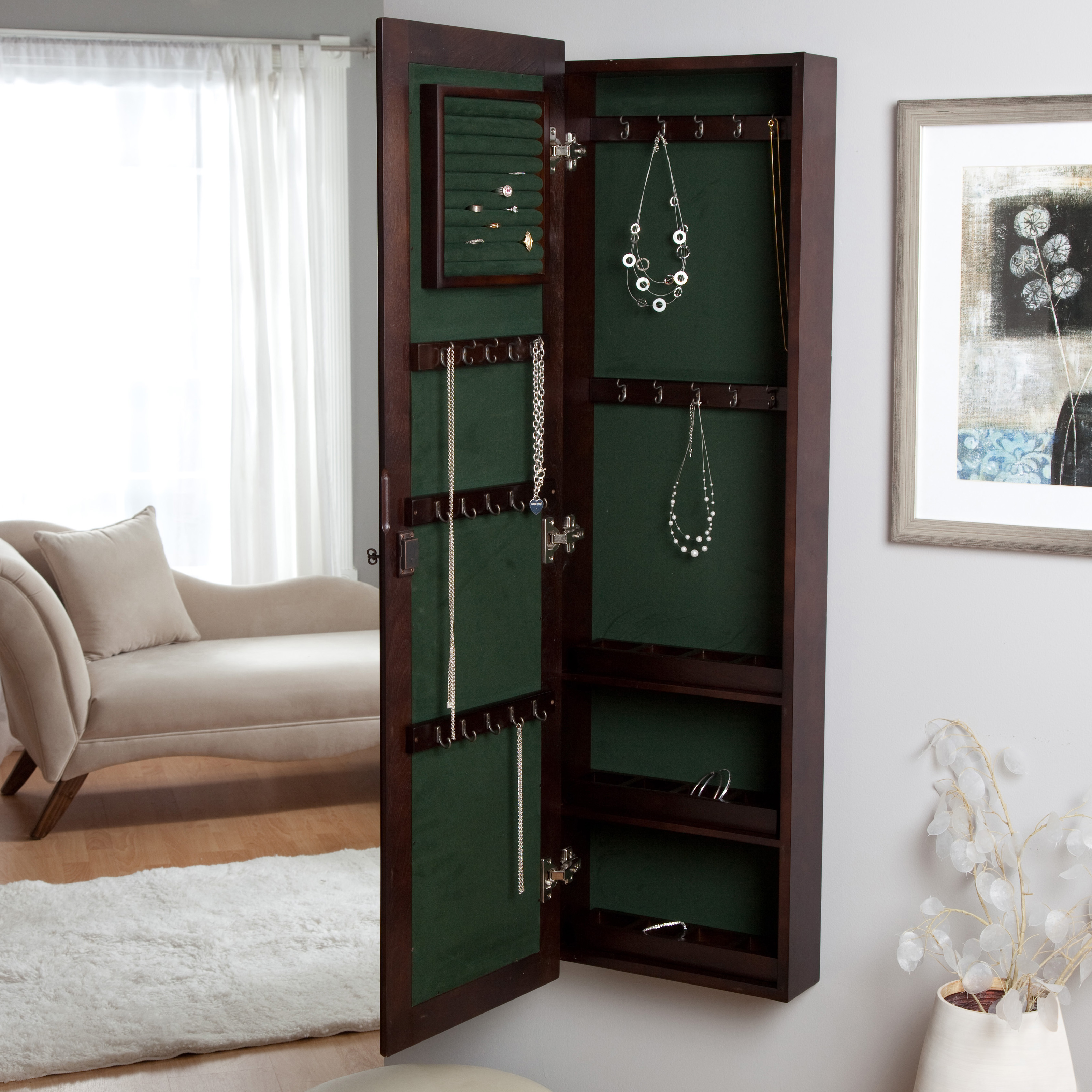 Glamorous 20 Wall Mirror Jewelry Box Design Inspiration Of Pebble
